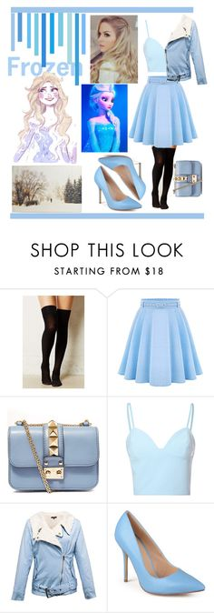 """""""elsa from frozen disney makeover"""" by elise2571 ❤ liked on Polyvore featuring Valentino, Glamorous, Journee Collection, Disney, Halloween, 60secondstyle and disneycharactercostume"""