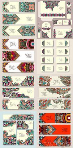 Exquisite ethnic patterns vector