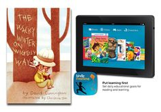 Enter to win A copy of The Wacky Winter on Wiggly Way autographed by David Cunningham, and an Amazon Kindle Fire (7″ HD Display, Wi-Fi, 8GB).