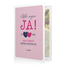 Hochzeitseinladung Amors Pfeil in Malve - Doppelklappkarte hoch gewickelt #Hochzeit #Hochzeitskarten #Einladung #Foto #kreativ #modern https://www.goldbek.de/hochzeit/hochzeitskarten/einladung/hochzeitseinladung-amors-pfeil?color=malve&design=28f69&utm_campaign=autoproducts