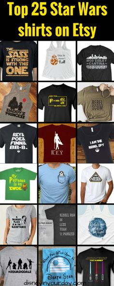 Top 25 Star Wars shirts on Etsy - Disney in your Day