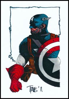 Captain America by Travis Charest *