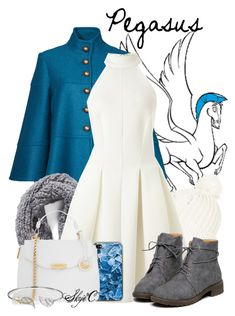 """Pegasus - Winter - Disney's Hercules"" by rubytyra ❤ liked on Polyvore featuring Nanette Lepore, Topshop, Collection XIIX, Miss Selfridge, Versace, Bling Jewelry, women's clothing, women, female and woman"