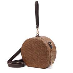 Lady Fashion Eco-friendly Woven Round Handbag NTS0159