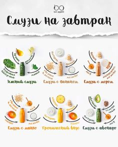 Новости Healthy Menu, Healthy Smoothies, Healthy Drinks, Smoothie Recipes, Smoothie Drinks, Proper Nutrition, Diet And Nutrition, Raw Food Recipes, Cooking Recipes