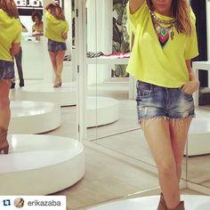 Erika Zaba de OV7 en las tiendas de Pink Flamingo <3   #PinkFlamingo #Closet