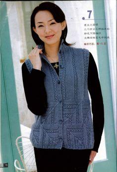 Gallery.ru / Фото #13 - Пэчворк из интернета 3 - Jollga Knit Shrug, Knit Jacket, Sweater Jacket, Crochet Shoes, Knit Crochet, Bunt, Knitwear, Knitting Patterns, Lady