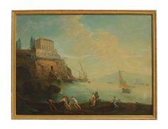 Italian Oil On Canvas