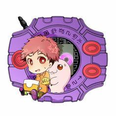 """Koushiro """"Izzy"""" Izumi & Motimon"""