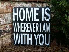 Home is Where I am with You  Large Block by ExpressionsWallArt, $25.00