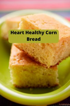 This heart healthy cornbread is low in fat and low in sodium. It goes great with your favorite soup! #heartheathyrecipes, #recipes, #hearthealthydiet, Heart Heathy Recipes, Heart Healthy Desserts, Heart Healthy Diet, Healthy Sweet Treats, Healthy Recipes, Easy Diabetic Meals, Diabetic Recipes For Dinner, Healthy Meal Prep, Low Sodium Cornbread Recipe