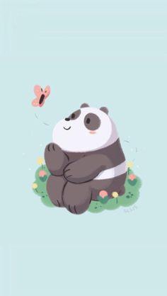 Panda mira una mariposa🐼