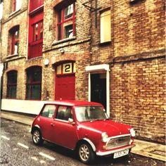 The iconic Mini. At home in East London's streets.
