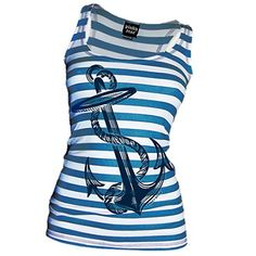 Pinky Star Blue Anchors Aweigh Tank