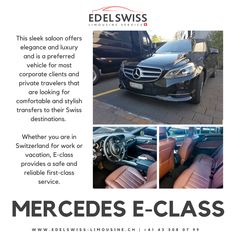 EdelSwiss Limousine Service Fleet - Luxury Vehicles and Limos Mercedes Sedan, Mercedes Benz, Benz S Class, Mercedes Sprinter, Limo, Travelling, Communication, Vacation, Lifestyle