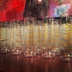 Etsy.com/shop/loulaabelle  #champagne #stemless #bridesmaids #bachelorette #engagement #customchampagne #stemless #stemlesschampagneglasses #gift