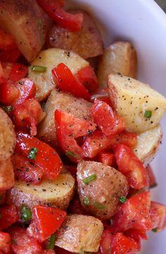 Honey Dijon Roasted Potato Salad recipe by Barefeet In The Kitchen