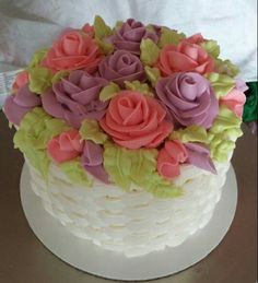 Easter Cake (basket weave, roses)