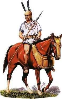 Oscan cavalry from either Lucania or Apulia. The quality of these horsemen can not be ignored. Without them the Roman Republican army would have been at a great disadvantage as they provided twice as many men and horses than the Roman Republic.