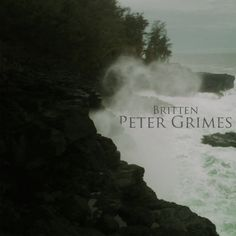 Cover for the opera 'Peter Grimes' by Britten.