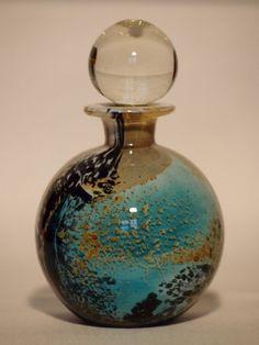 Antique Mdina Perfume Bottle Seascape Colours