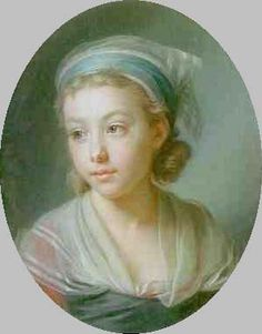 Daughter of the actor Caillot, by Vigee Le Brun. Pastel. 1787