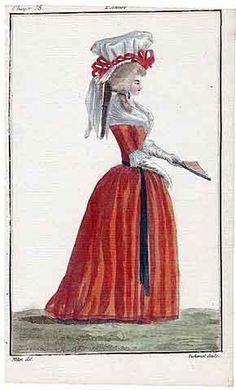 Magasin des Modes Nouvelles 1787 cahier n°35, plate n°3, Mitan, 18th Century Dress