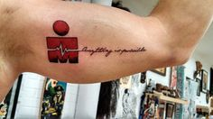 Tattoo EKG-Ironman .... Completing Ironman Tremblant August 2014 after suffering severe heart attack in February 2013