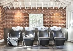 Shampoo bowls which are twice the size as normal to provide for maximum comfort while getting your hair washed. #SalonAguayo (626)792-9981