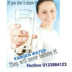 Drink it.Feel it.Share it Thats when!! You Change Your Water You Change Your Life. Amazing Water with Amazing Results For free demo pls ws 0166654028