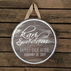 Hanging Sign with Espresso Metallic Plaster and Metallic Paint, both by Modern Masters. Beautiful lettering and finish work by Annie's Barn Fantastic Finds.