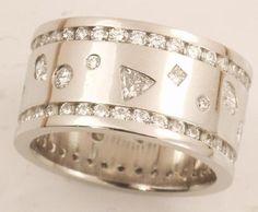 Custom 223 Carat Diamond and Platinum Ring Eternity by gems4borth, $4500.00