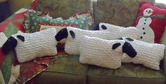 A Flock of Sheep.  The pattern has adorable little blankets for the sheep.  TOO CUTE.