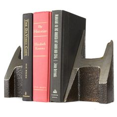Century Old Steel Rail Bookends