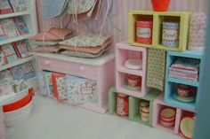 I finally had a moment to snap some quick pictures of the Cath Kidston Shop I am currently making in Miniature. I'mstill having lots of...