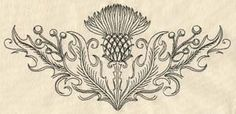 Machine and Hand Embroidery Designs at Urban Threads - Thistle Crest