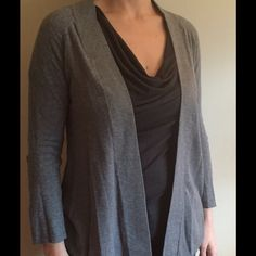 Express open cardigan Lightweight drapey open cardi with adjustable sleeves. 100% cotton. Express Sweaters Cardigans