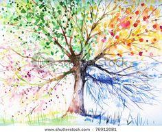 four seasons tree diy-craft-ideas