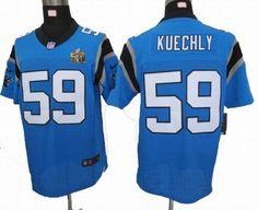 super cute 91b9c dde9f 2012 Nike Carolina Panthers 59  Luke Kuechly blue 2016 Super Bowl 50 Elite  Jersey 25.0