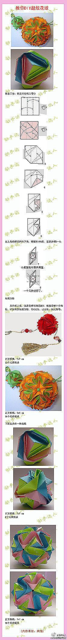 下一张  Tutorial for gorgeous origami flower.  I'd never be able to do this...but maybe others can