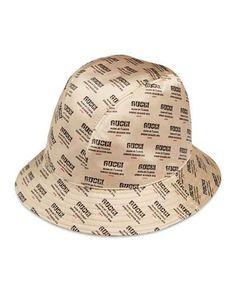 a5e69e22e67 Gucci Donna Logo-Print Silk Bucket Hat