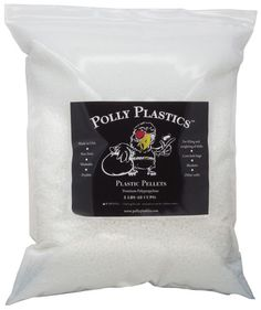 Polypropylene Plastic Pellets for filling and weighting of objects like dolls, blankets and small bean bags - 5 lb. size
