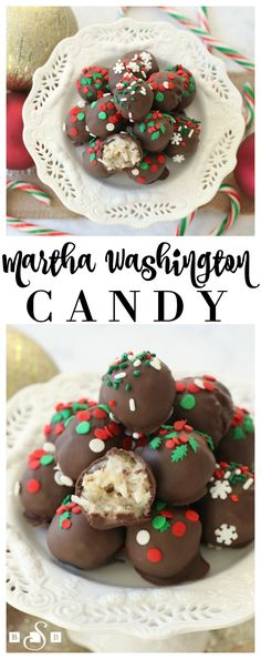 Martha Washington Candy - Coconut Pecan BonBons- Butter With A Side of Bread #HappiMess #DeltaLiving #ad