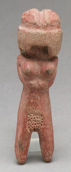 """Female Figurine Vladivia, 3rd millenium BC The Metropolitan Museum of Art """"In the third millennium B.C., inhabitants of Ecuador's southwest coast developed the earliest known ceramic figurine tradition in the Americas. Noted for their stylized representation, these clay statuettes are rooted in earlier stone figurine traditions from the same region. While some of the ceramic figures are relatively plain, l..."""