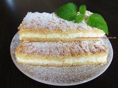 Raspberrybrunette: Krehký tvarohový koláč  Veľmi jemný, krehký, šťavn...