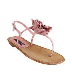 VALA BLUSH LEATHER women's sandal flat thong - Steve Madden