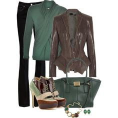 Peplum Leather Jacket and Jeans by averbeek on Polyvore featuring Hoss Intropia, Haider Ackermann, Rachel Zoe, Acne Studios, Dorothy Perkins and Monica Vinader