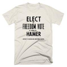 Elect Fannie Lou Hamer   Reclaim BLK – Philadelphia Printworks Civil Rights Movement, Mississippi State, Vintage Outfits, Philadelphia, Timeline, Casual, Clothing, Shirt, Accessories