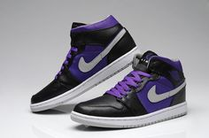 41fe752ff73b9a Air Jordan 1 Black and Purple  50.39 Jordans Girls