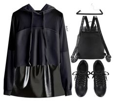 """""""Sporty in leather"""" by oliverab ❤ liked on Polyvore featuring Leather and romwe"""